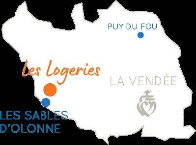 Carte localisation Camping logeries